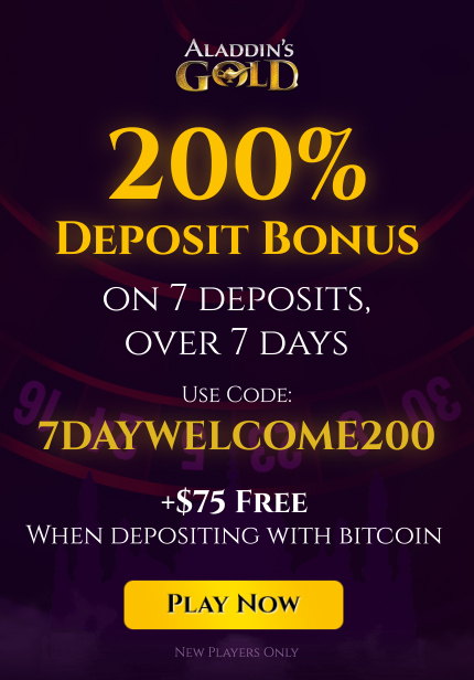 Aladdins Gold Casino No Deposit Bonus 2021